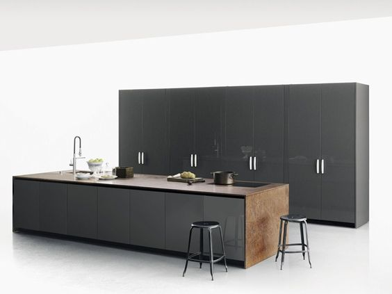 Küche aus Stein mit Kücheninsel XILA by Boffi