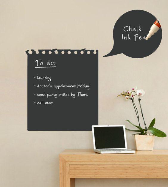 Quadro adesivos de parede removível Blackboard adesivo de vinil decoração ZYVA 213 Planner papel de parede em Papéis de parede de Casa & jardim no AliExpress.com | Alibaba Group