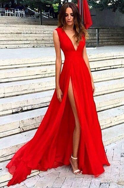 Vestido Longo Vermelho  Red