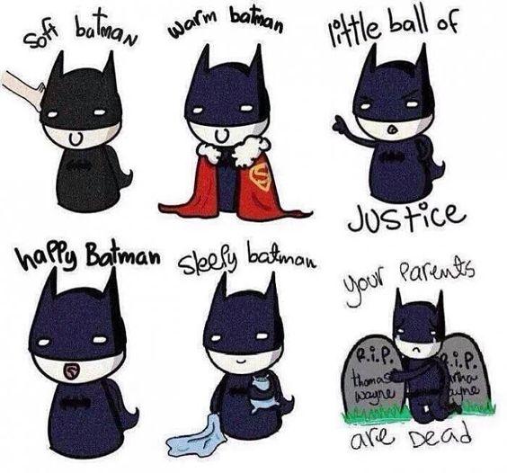 Awwwww soft Batman. Nice Batman.