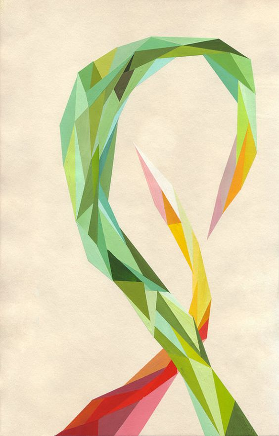 """Another piece by the same artist Treasurefrey """"Two Weeds Children""""  Lovely modern piece for any decor - Nursery Decor Modern by treasurefrey, $20.00"""
