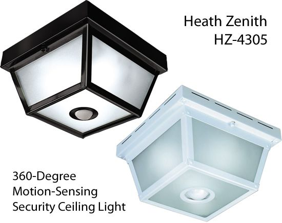 Motion Activated Outdoor Lighting, Outdoor Porch Ceiling Lights With Motion Sensor