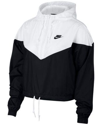 Nike Sportswear Cropped Hooded Windbreaker - Black S   Nike ...