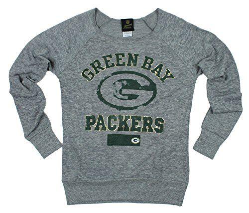 Green Bay Packers NFL Juniors Women's Flashdance Sweatshirt, Grey NFL