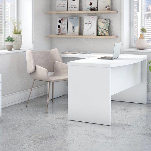 Kathy Ireland Office By Bush Echo Bow Front 3 Piece L Shape Desk