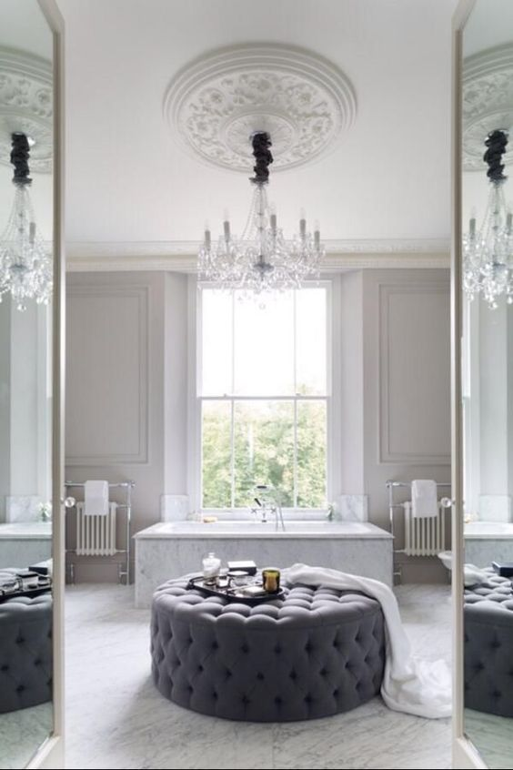 beautiful bathroom with the most beautiful ceiling rose with hanging chandelier ceilingrose bathroom beautiful bathroom lighting