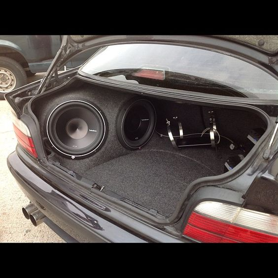 Custom Vehicle Speakers : Custom car stereo trunk install jl audio subwoofers on the