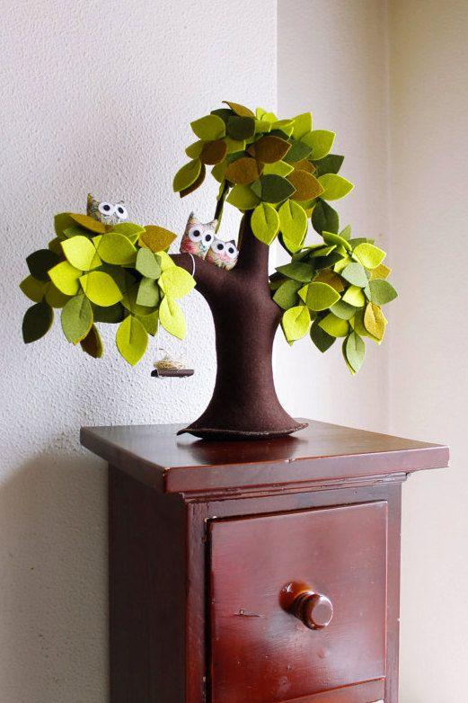 Weinende Weide mit Eulen Home Decorations Kinder Decor fühlte sich grüne Baum Sweet Home