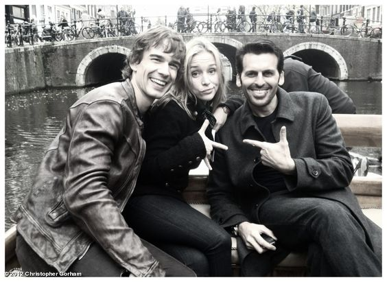 Covert Affairs bts cast photo - via Chris Gorham's tumblr