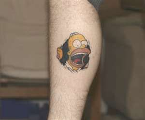 Homer simpson tattoo tattoos movies pinterest for Homer simpson tattoos