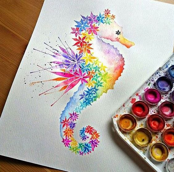 Seahorses, Artworks and Artists on Pinterest