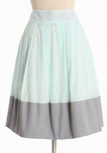 Serenity Colorblocked Skirt