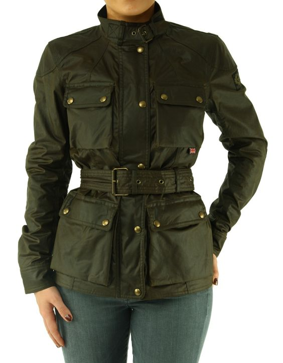 Faded Olive Belstaff Roadmaster Cotton Icon 4 Pocket Jacket | Accent Clothing