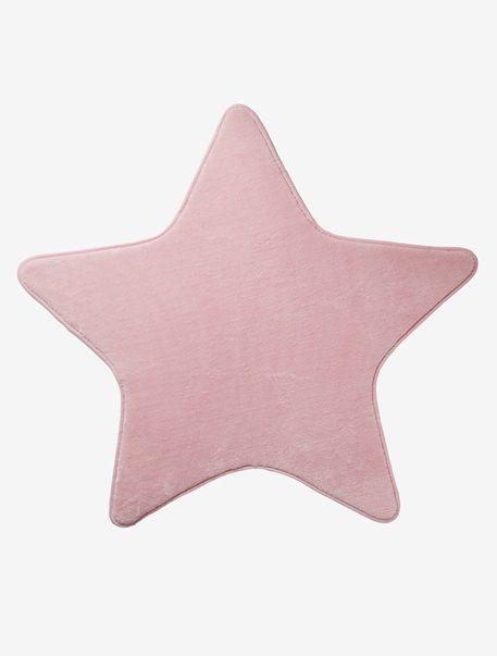 Fresh Teppich in Sternform f r Kinderzimmer GRAU ROSA