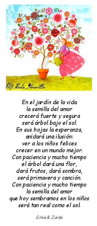 Pin by mirtha perez on poemas estaciones pinterest for Cancion de bienvenida al jardin