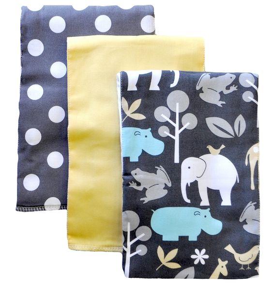 Urban Zoo Burp Cloth Set