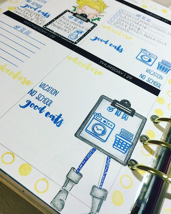 Same technique as above clipboard and girl stamp. The first half of this week...because the second half still isn't done! : : : #planneraddict #plannergirl #plannercommunity #studiol2e #plannerstamping #plannerlife #plannerstamps #makeplanningfun #weeklylayout #plannerlayout #lovemylimelife #limelifeplanner #mommylheyinks #coloredpencils #coloring #lawnfawn #lawnfawnstamps #sweetstampshop