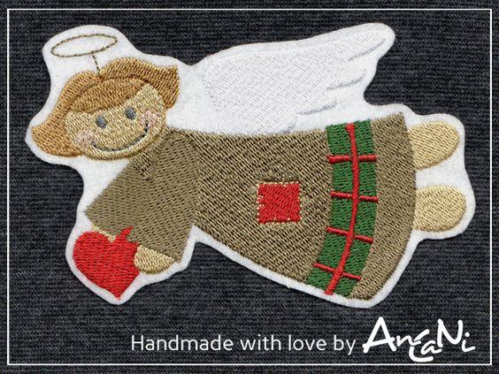 Aufnäher Schutzengel ♥ Engel ♥ Weihnachten ♥ xxl von AnCaNi auf DaWanda.com