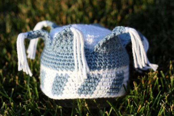 Pattern Directions for Making a Crochet Little Blue Prince Hat Photo ...