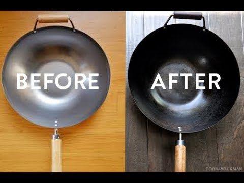 How To Properly Season Your New First Wok Wok Seasoning Youtube Wok Carbon Steel Wok Wok Cooking