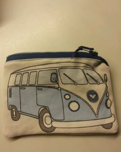 Handmade Coin money Purse Blue VW Camper Van Designer Fabric Lovely Gift 1   eBay
