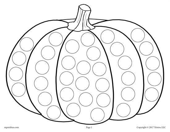 Detskie Podelki Do A Dot Fall Coloring Sheets Fall Coloring Pages