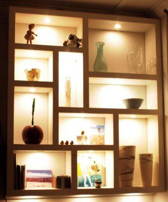 Shelf design shelves and design on pinterest - Great floating shelf ideas for your home ...