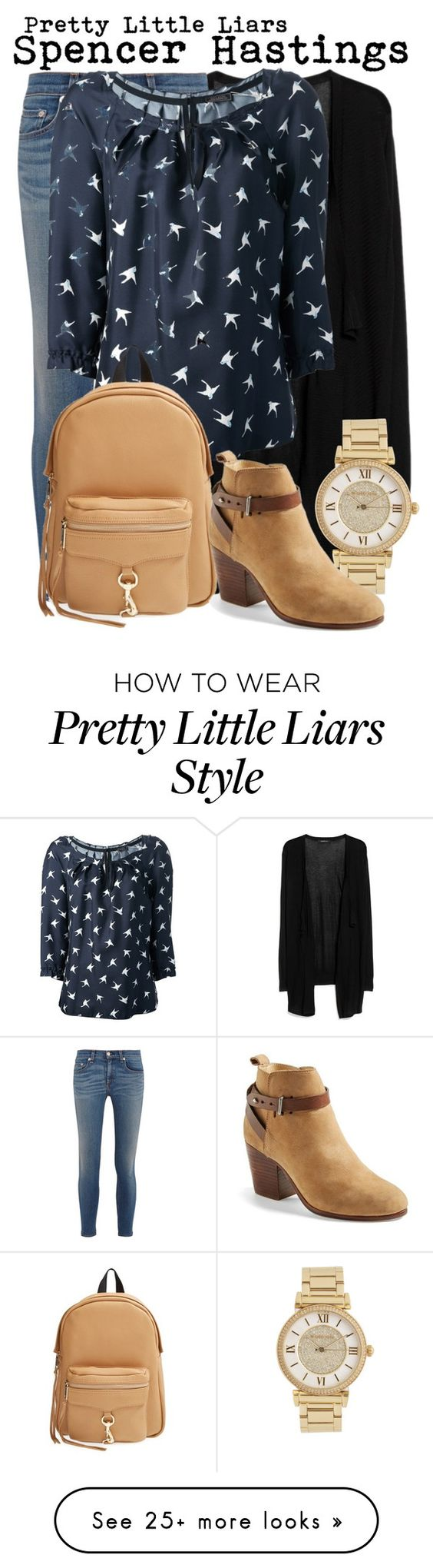 """Pretty Little Liars- Spencer Hastings"" by darcy-watson on Polyvore featuring moda, MANGO, rag & bone, Michael Kors, Nina Ricci y Rebecca Minkoff"