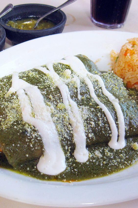 Chicken enchiladas, Enchiladas and Enchiladas verdes recipe on ...