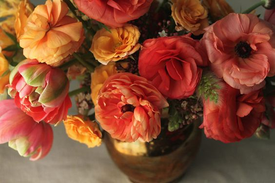 Pinks and soft-oranges for autumn.: