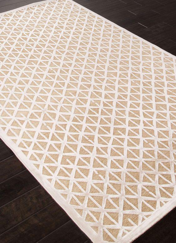 Jaipur Rugs RUG113553 Machine Made Lustrous Finish Art Silk/ Chenille Taupe/Ivory Area Rug ( 7.6x9.6 )