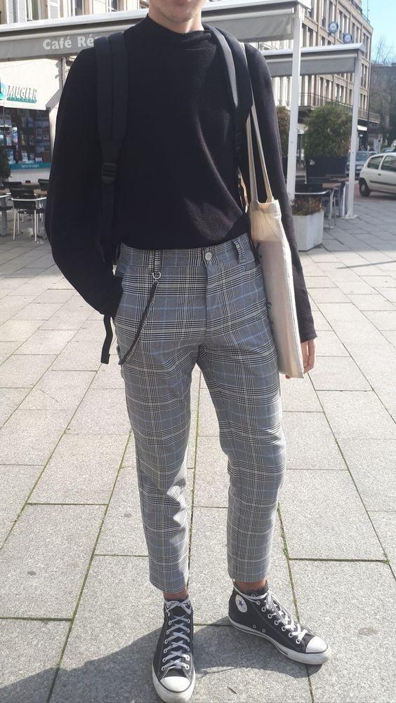 Pin De Scarleth Molina En Ropa En 2020 Ropa Casual Hombres Pantalones De Hombre Moda Ropa Hipster Hombre