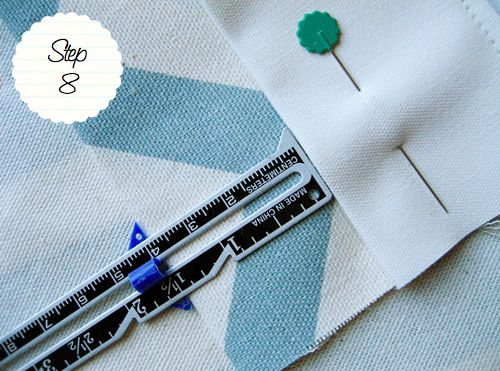 How to make your own curtains with a blackout lining.