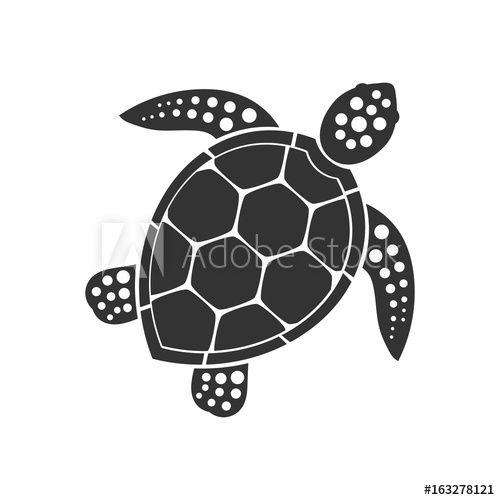 Sea Turtle Icon In 2021 Turtle Sea Turtle Turtle Tattoo Designs