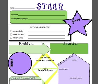 Printables Staar Practice Worksheets staar fill in practice reading skills test prep worksheets for use with any text from