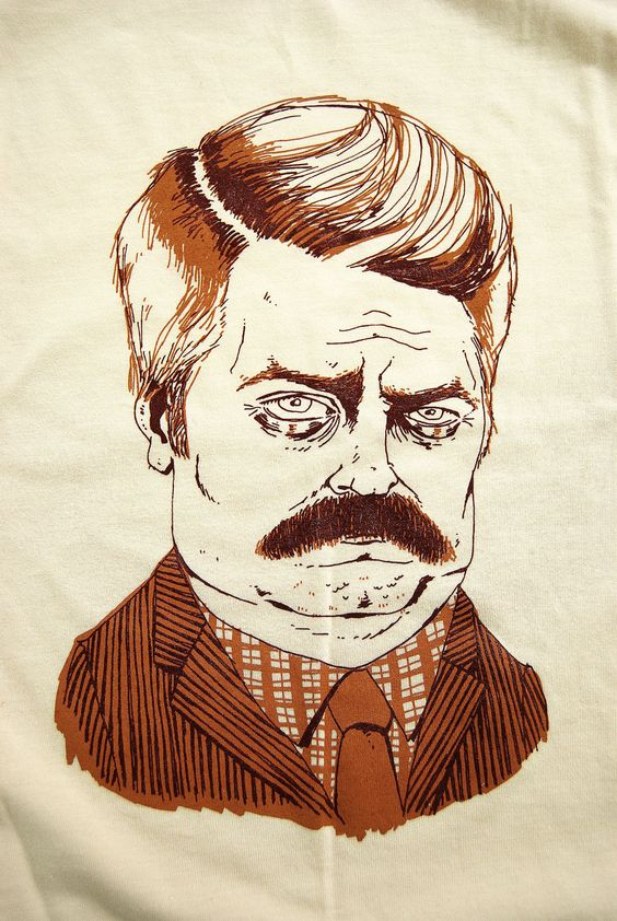 """""""You had me at meat tornado."""" We love you, Ron Swanson."""