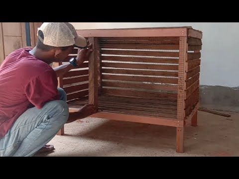 Cara Membuat Kandang Ayam Sederhana How To Make A Minimalist Chicken Coop Youtube Kandang Ayam Kandang Ayam