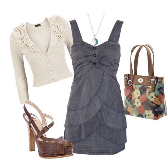 Blue Dress, created by jliz516 on Polyvore