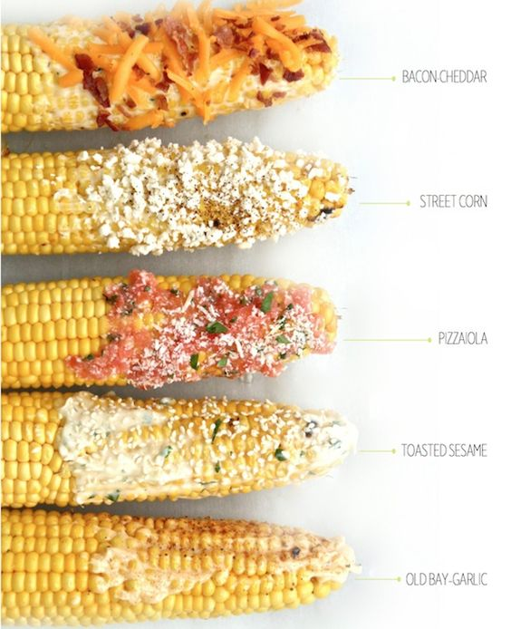 Easy Corn on the cob recipe that's delicious and perfect for a backyard picnic!: Corn Recipes, Side Dishes, Farmers Market, Corn Idea, Grilled Food, Grilled Corn Recipe, Food Side, Yummy Side, Cob Recipe