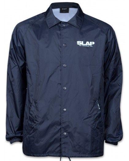 HUF X SLAP Coaches Jacket Herren Jacke marine