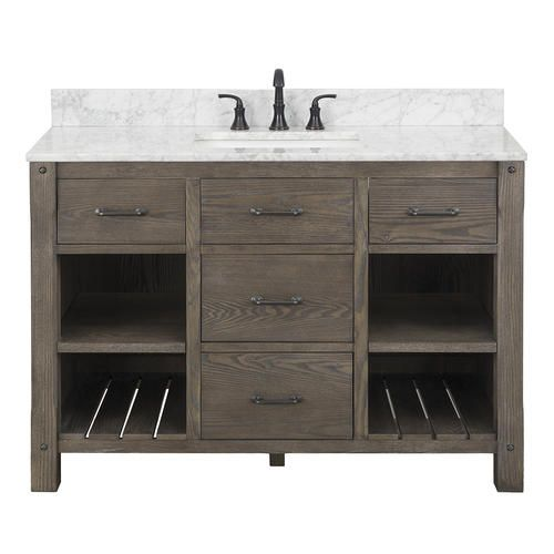 Foremost Roberson 48 W X 21 1 2 D Vanity Cabinet At Menards