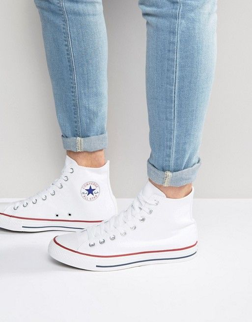 Converse All Star Hi plimsolls in white m7650c   krispen in