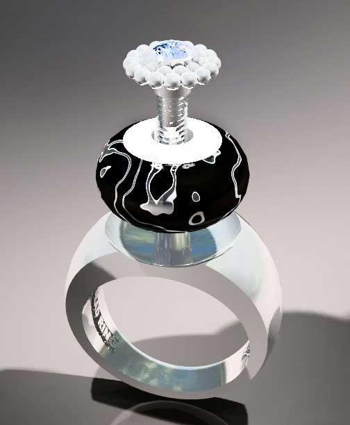 Plain Shank Ring  - MARCUS MAX - Interchangeable Bead by ReginasDreamCreation, $179.00