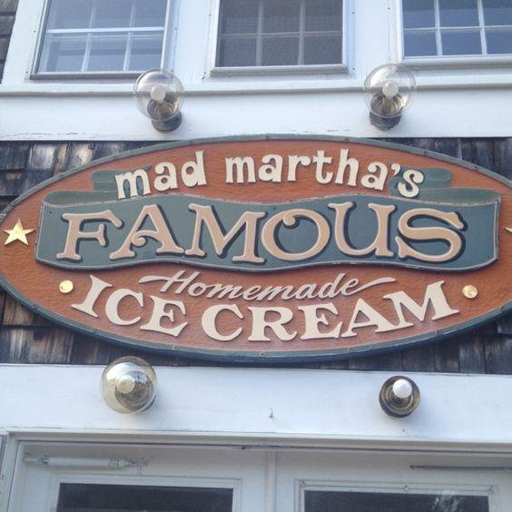 In Martha's Vineyard, I'll have to try Mad Martha's Homemade Ice Cream (Edgartown, Ma)