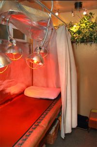 Near Infrared Sauna I Believe Picture Is Using Simple Light Supplies You Can Buy Yourself