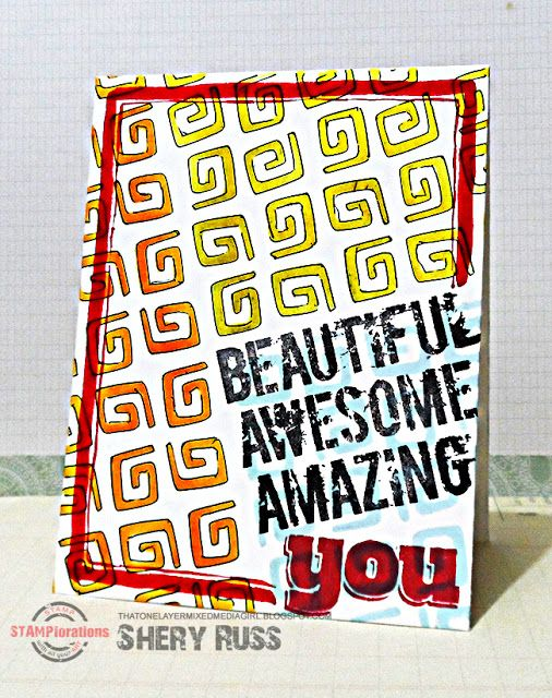 That One Layer Mixed Media Girl: Paper craft project no. 369: Beautiful awesome amazing you