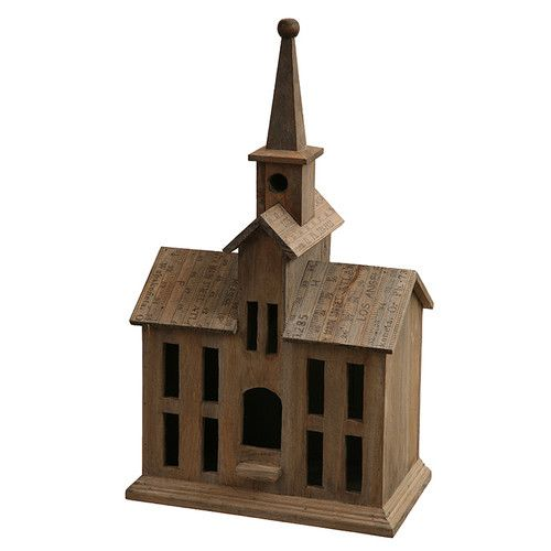 Found it at Wayfair - School House Freestanding Birdhouse