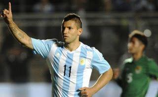 Blog Esportivo do Suíço: Argentina atropela a Bolívia com hat-trick de Agüero