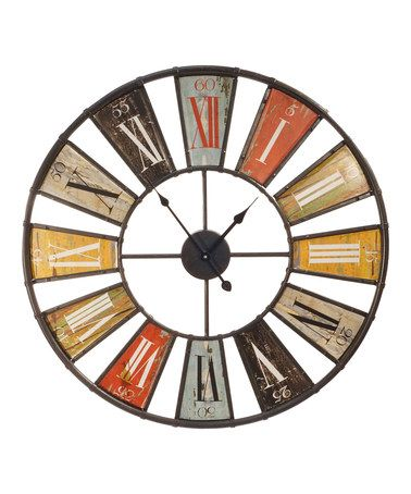 Look what I found on #zulily! Orange & Yellow Metal Wall Clock #zulilyfinds