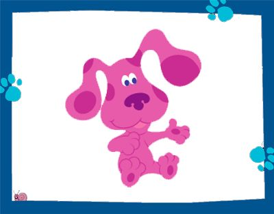 Cartoon characters blue 39 s clues blue 39 s clues live for Blues clues magenta coloring pages